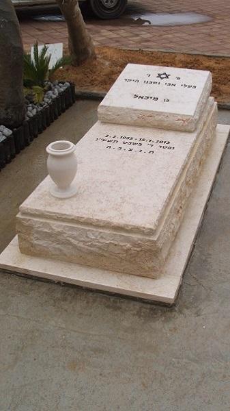 בניית מצבה סטנדרטית מאבן ירושלמית בדרום